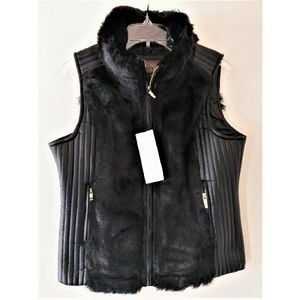 Fur Vest w/ Leather